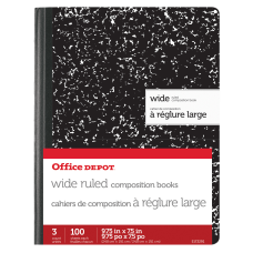 Office Depot Brand Marble Composition Books