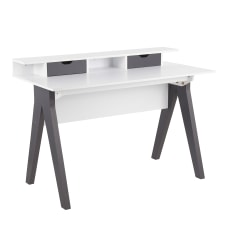 LumiSource Wishbone 48 W Desk GrayWhite