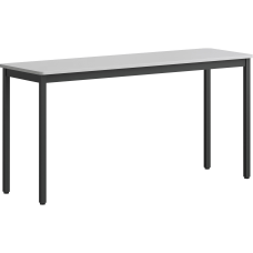 Lorell MelamineSteel Utility Table 30 H