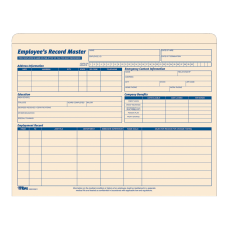 TOPS Employee Record Master File Jackets