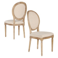 Linon Spencer Oval Back Dining Chairs