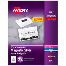 Avery Magnetic Style Name Badge Kit