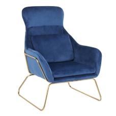LumiSource Penelope Lounge Chair BlueGold