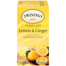 Twinings Lemon Ginger Herbal Decaffeinated Tea