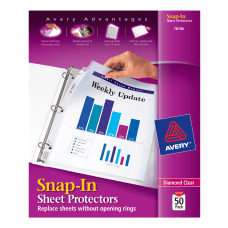 Avery Snap In Top Loading Sheet
