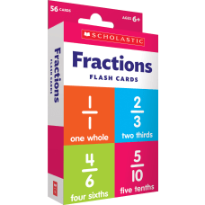 Scholastic Fractions Flash Cards 6 516