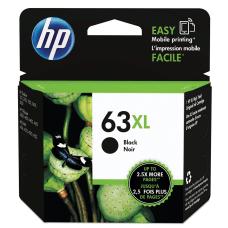 HP 63XL High Yield Black Ink