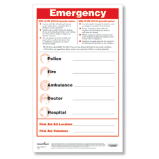 ComplyRight Emergency Numbers Safety Poster And