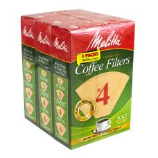 Melitta 4 Coffee Filters Brown 100