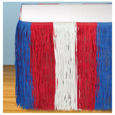 Amscan Patriotic Fringe Table Skirt 9