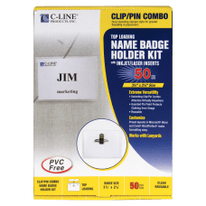 C Line Sealed ClipPin Style Badge