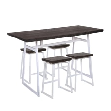 LumiSource Geo Industrial Counter Height Table