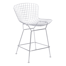 Zuo Modern Wire Counter Chairs Chrome