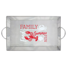 Amscan Seafood Metal Serving Tray With