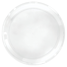 Amscan Round Plastic Platters 16 Clear
