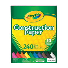Crayola Construction Paper Assorted Colors 9