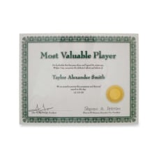 Advantus Panel Wall Acrylic Certificate Holder