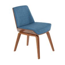 LumiSource Corazza Chair WalnutDark Blue