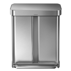 simplehuman Rectangular Stainless Steel Dual Compartment