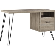 Ameriwood Home Landon Desk Distressed Gray