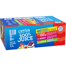 Capri Sun 100percent Juice Variety Pack