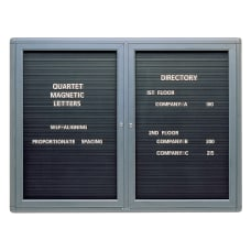 Quartet Enclosed Magnetic Letter Board 48