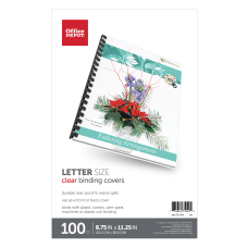 Office Depot Brand Clear Binding Covers