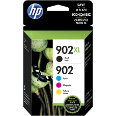 HP 902XL902 CyanMagentaYellowBlack Ink Cartridges T0A39AN140