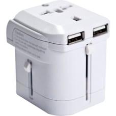 IOMagic World Travel Power Adapter White