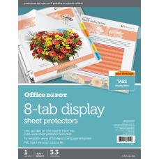 Office Depot Brand Tabbed Sheet Protectors