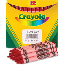 Crayola Bulk Crayons Red 12 Box