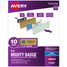 Avery The Mighty Badge Magnetic Badges