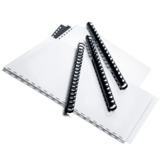125-Sheet Capacity Box Of 100 Black CombBind 19-Ring Plastic Binding Combs 5//8in. GBC R