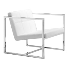 Zuo Modern Carbon Occasional Chair WhiteChrome