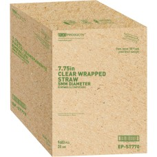 Eco Products Unwrapped Jumbo Paper Straws