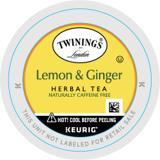 Twinings Lemon Ginger Decaffeinated Herbal Tea