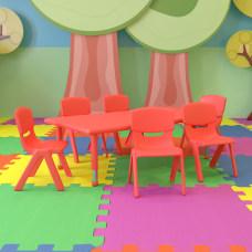 Flash Furniture Plastic Height Adjustable Rectangular