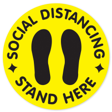 COSCO Social Distancing Stand Here Circular