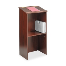 Safco Stand Up Lectern Mahogany