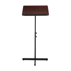 Safco Adjustable Speaker Stand Mahogany
