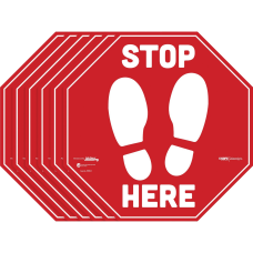 Tabbies BeSafe Messaging Carpet Decals STOP