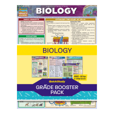QuickStudy Grade Booster Pack Biology