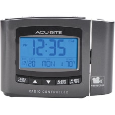 AcuRite Atomic Projection Clock with Indoor