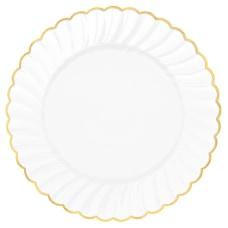 Amscan Scalloped Premium Plastic Plates With