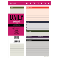 TF Publishing Undated Daily Task Pad