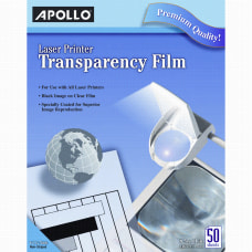 Apollo Laser Printer Transparency Film 8
