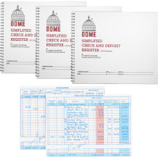 Dome Check And Deposit Register 50