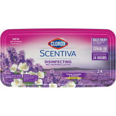 Clorox Scentiva Wet Mopping Cloths Tuscan