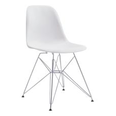 Zuo Modern Zip Dining Chair WhiteChrome