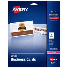 Avery Laser Microperforated Business Cards Sure